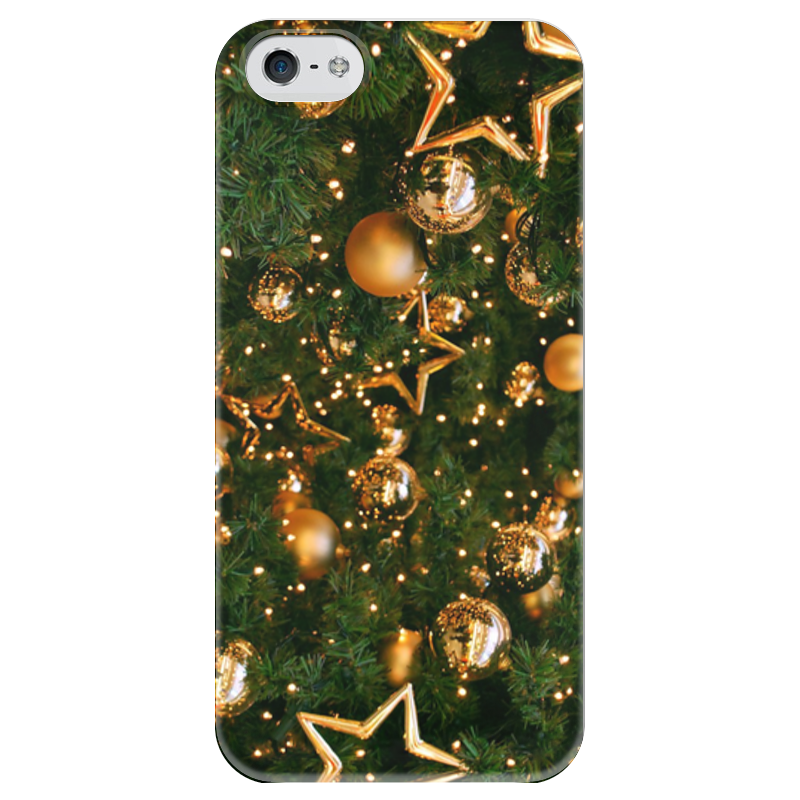 Чехол для iPhone 5 глянцевый, с полной запечаткой Printio Happy new year фартук с полной запечаткой printio happy new year 2017