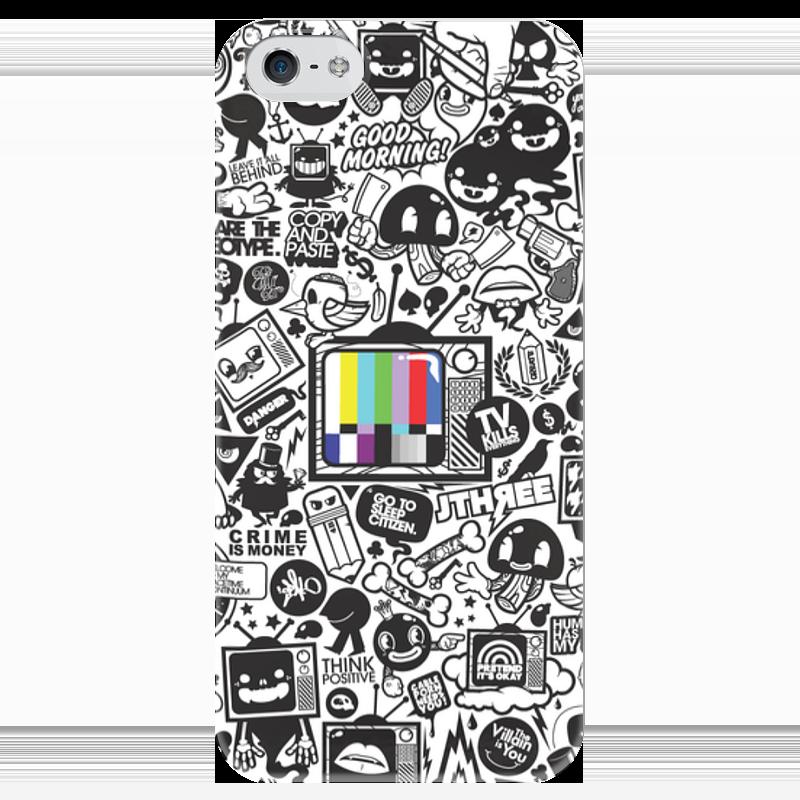 Чехол для iPhone 5 глянцевый, с полной запечаткой Printio Blood sweat vector