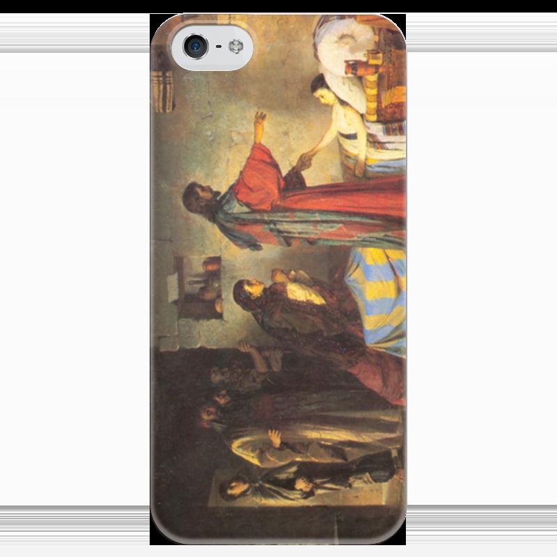 Чехол для iPhone 5 глянцевый, с полной запечаткой Printio Воскрешение дочери иаира григорьян ирина игоревна мещерина елена григорьевна мастера жанровой живописи