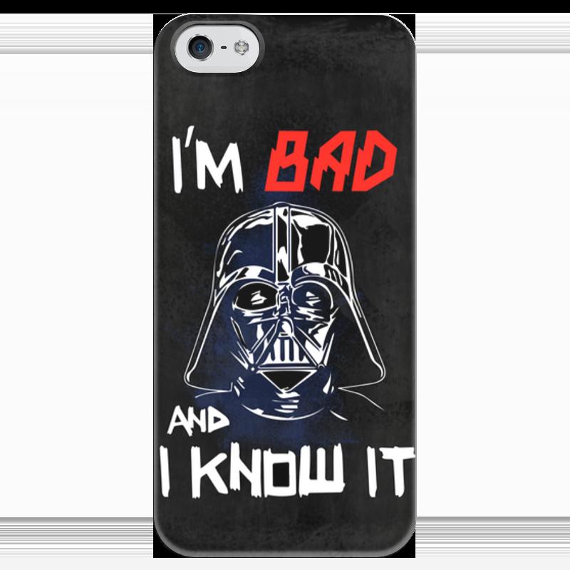 Чехол для iPhone 5 глянцевый, с полной запечаткой Printio I'm bad and i know it (starwars) футболка с полной запечаткой женская printio i m bad and i know it starwars