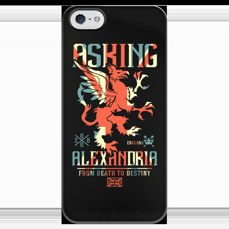 Чехол для iPhone 5 глянцевый, с полной запечаткой Printio Asking alexandria футболка с полной запечаткой для мальчиков printio asking alexandria the black