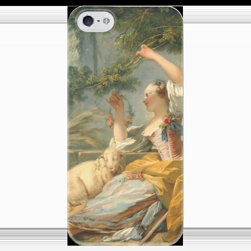 Чехол для iPhone 5 глянцевый, с полной запечаткой Printio Пастушка чехол для iphone 5 глянцевый с полной запечаткой printio флаг пророка жан леон жером