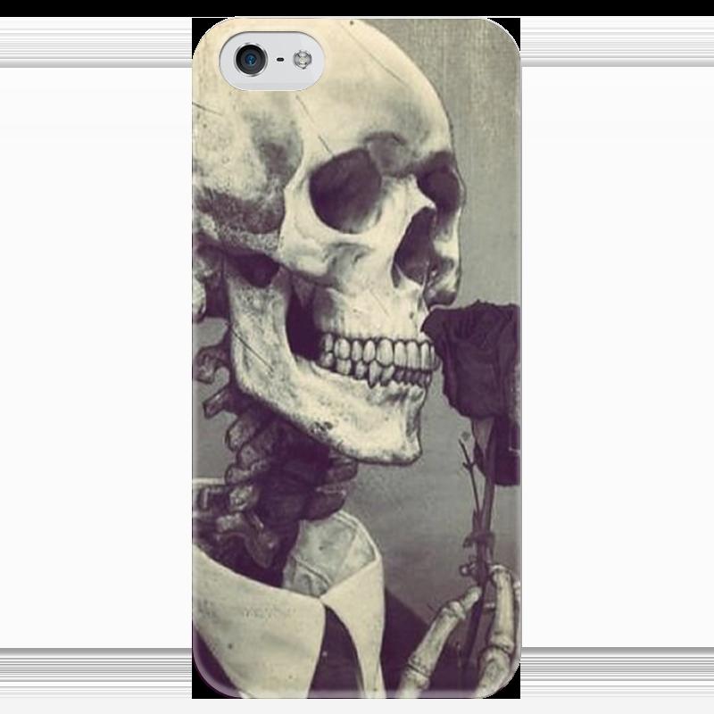 Чехол для iPhone 5 глянцевый, с полной запечаткой Printio Череп чехол для iphone 4 глянцевый с полной запечаткой printio череп