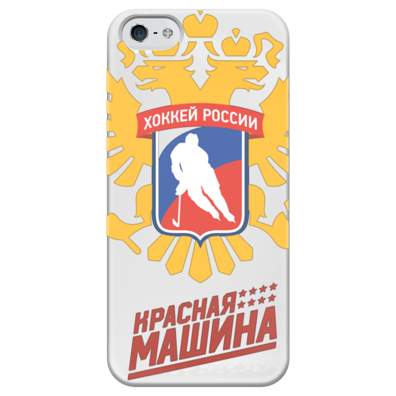 Чехол для iPhone 5 глянцевый, с полной запечаткой Printio Красная машина - хоккей россии шкатулка для рукоделия rto 3812 rt 64