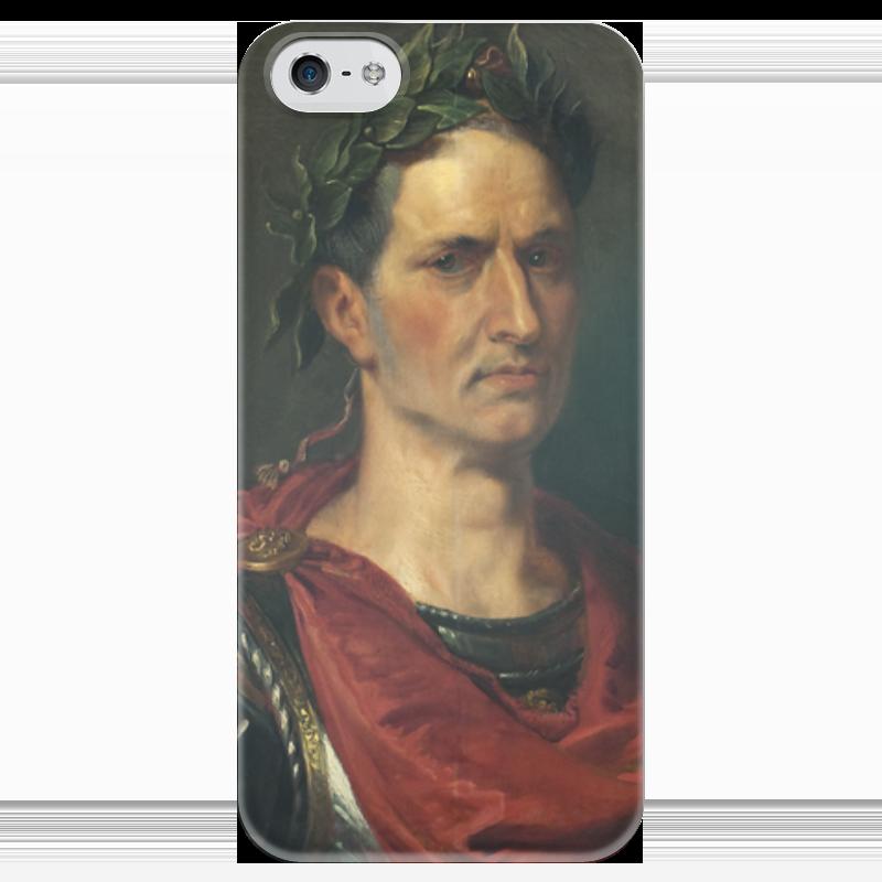Чехол для iPhone 5 глянцевый, с полной запечаткой Printio Гай юлий цезарь кленовый гай