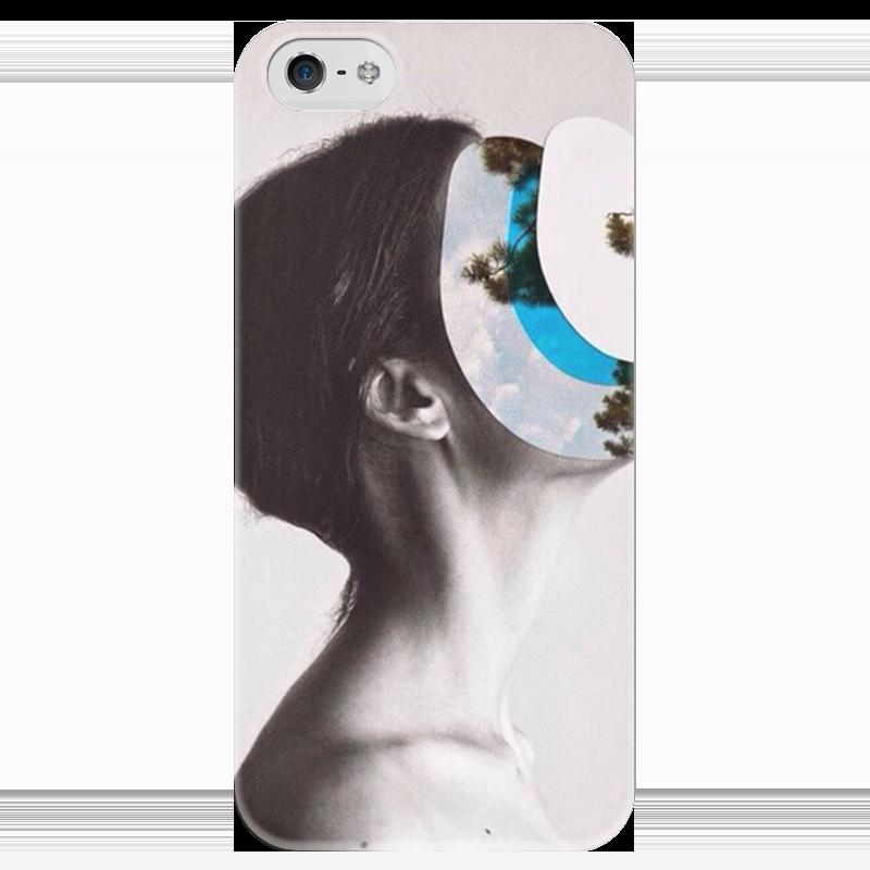 Чехол для iPhone 5 глянцевый, с полной запечаткой Printio Женщина чехол для iphone 5 глянцевый с полной запечаткой printio не трогай мой телефон