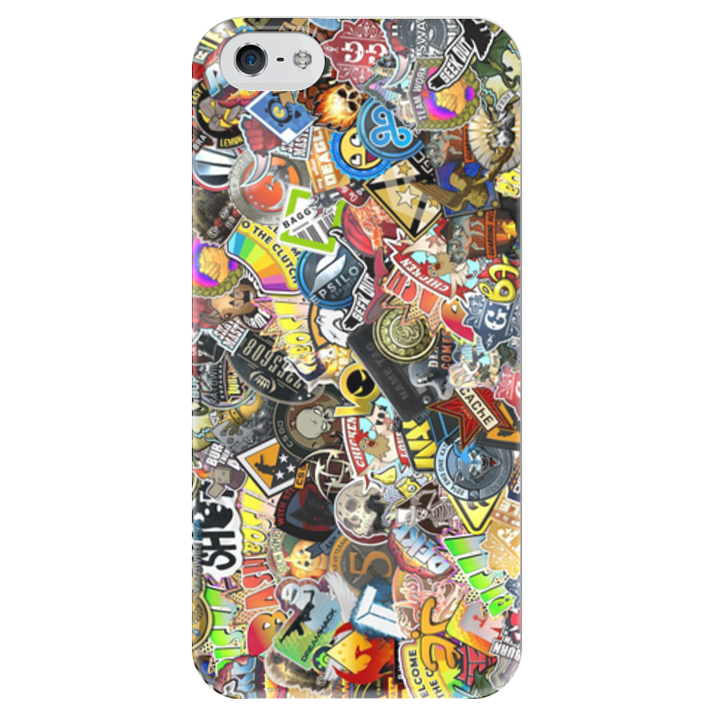 Чехол для iPhone 5 глянцевый, с полной запечаткой Printio Case stickers cs:go чехол для iphone 5 глянцевый с полной запечаткой printio новогодний case