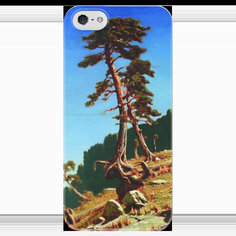 Чехол для iPhone 5 глянцевый, с полной запечаткой Printio Сосна (картина архипа куинджи) чехол для blackberry z10 printio север картина архипа куинджи