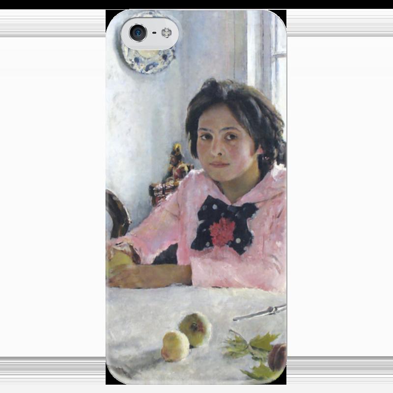 Чехол для iPhone 5 глянцевый, с полной запечаткой Printio Девочка с персиками (валентин серов) валентин пикуль николаевские монте кристо