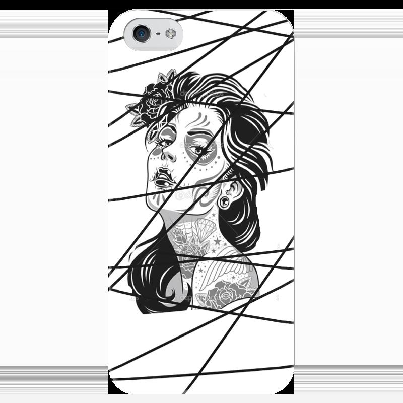 Чехол для iPhone 5 глянцевый, с полной запечаткой Printio Молодёжный стиль