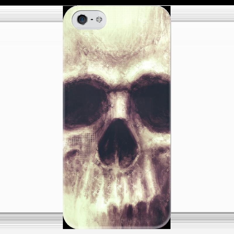 Чехол для iPhone 5 глянцевый, с полной запечаткой Printio Череп чехол для iphone 5 глянцевый с полной запечаткой printio ember spirit dota 2