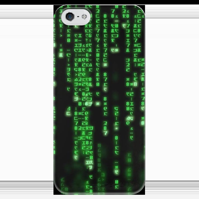 Чехол для iPhone 5 глянцевый, с полной запечаткой Printio Матрица