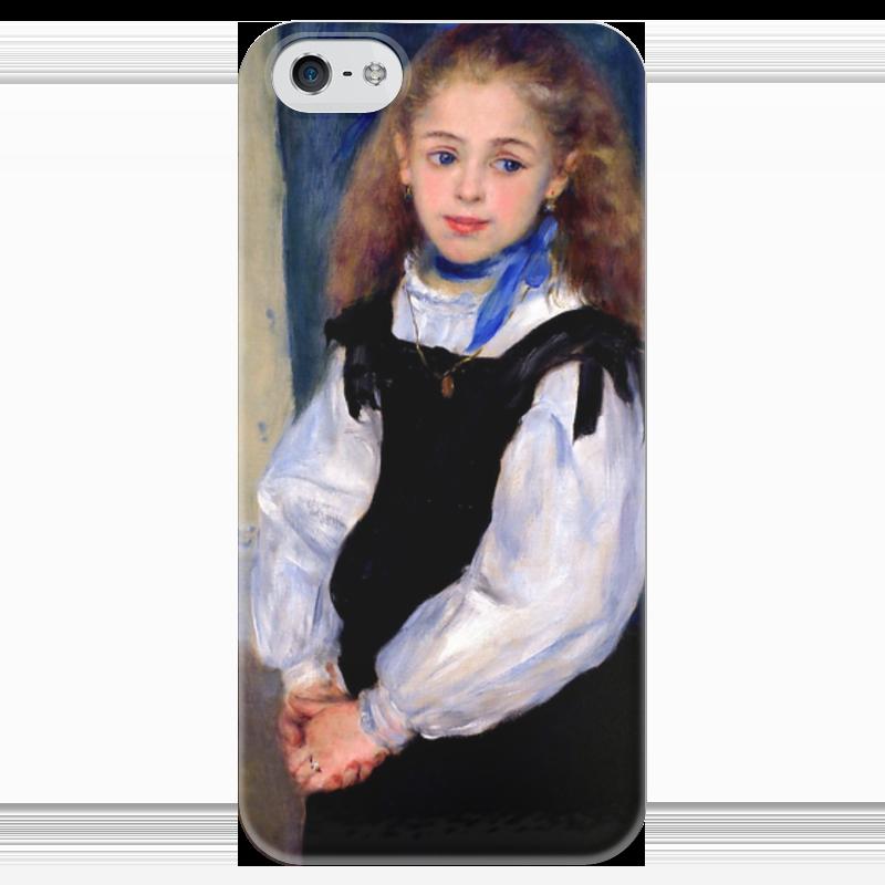 Чехол для iPhone 5 глянцевый, с полной запечаткой Printio Портрет мадмуазель легран (пьер огюст ренуар) чехол для iphone 6 глянцевый printio бал в мулен де ла галетт ренуар