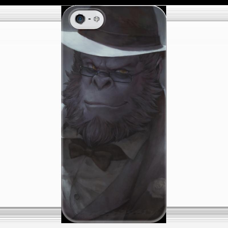 Чехол для iPhone 5 глянцевый, с полной запечаткой Printio Winston чехол для iphone 4 глянцевый с полной запечаткой printio бэтмен