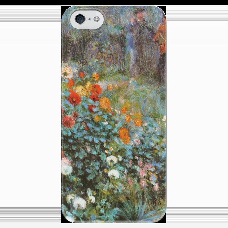 Чехол для iPhone 5 глянцевый, с полной запечаткой Printio Сад на улице корто (сад на монмартре) (ренуар) чехол для iphone 6 глянцевый printio бабушкин сад
