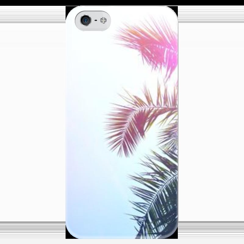 Чехол для iPhone 5 глянцевый, с полной запечаткой Printio Пальма чехол для iphone 5 глянцевый с полной запечаткой printio цикличность