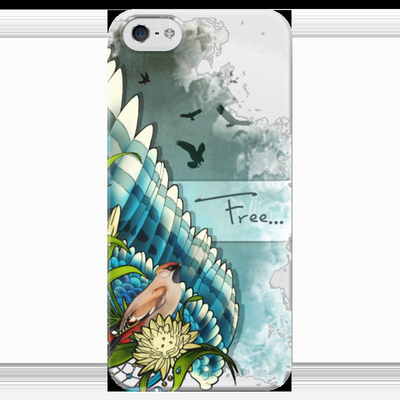 Чехол для iPhone 5 глянцевый, с полной запечаткой Printio Free чехол для iphone 5 глянцевый с полной запечаткой printio beardman case