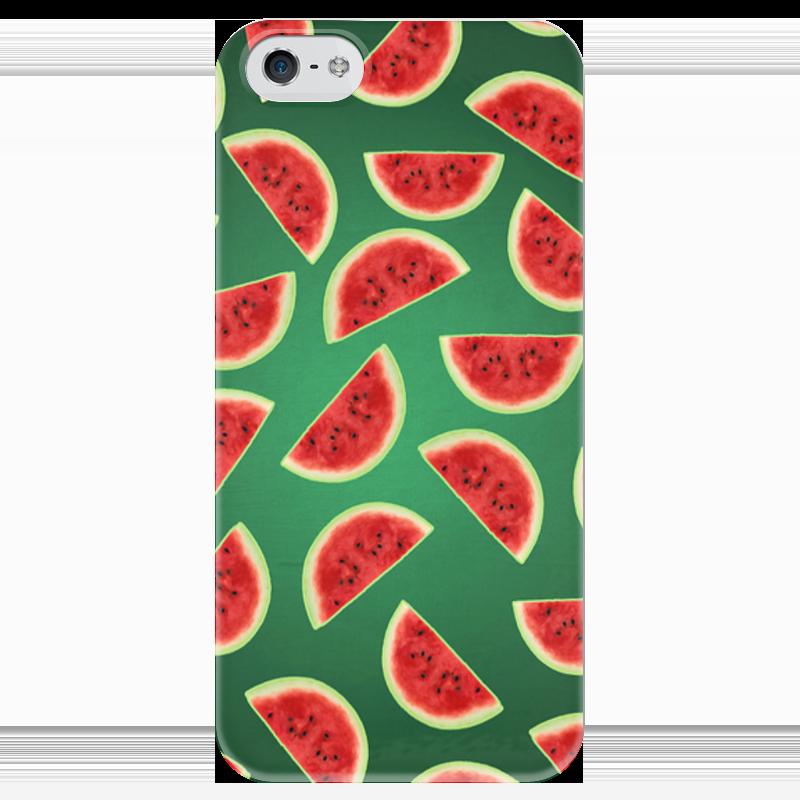 Чехол для iPhone 5 глянцевый, с полной запечаткой Printio Fruity mood чехол