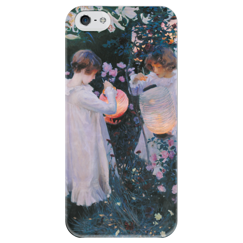 Чехол для iPhone 5 глянцевый, с полной запечаткой Printio Гвоздика, лилия, лилия, роза лилия долины