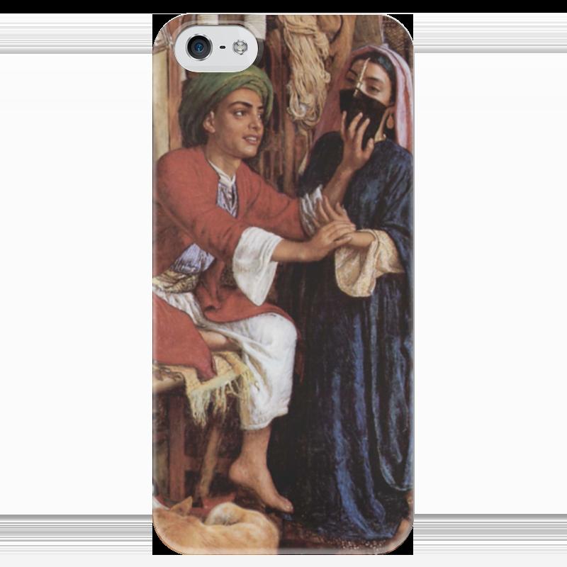 Чехол для iPhone 5 глянцевый, с полной запечаткой Printio Уличная сцена в каире (уильям холман хант) что можно купить в каире