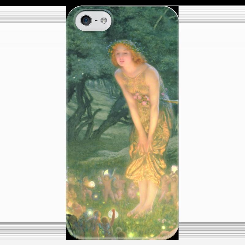 Чехол для iPhone 5 глянцевый, с полной запечаткой Printio Летнее солнцестояние (эдвард роберт хьюз) гэлбрейт роберт шелкопряд роман