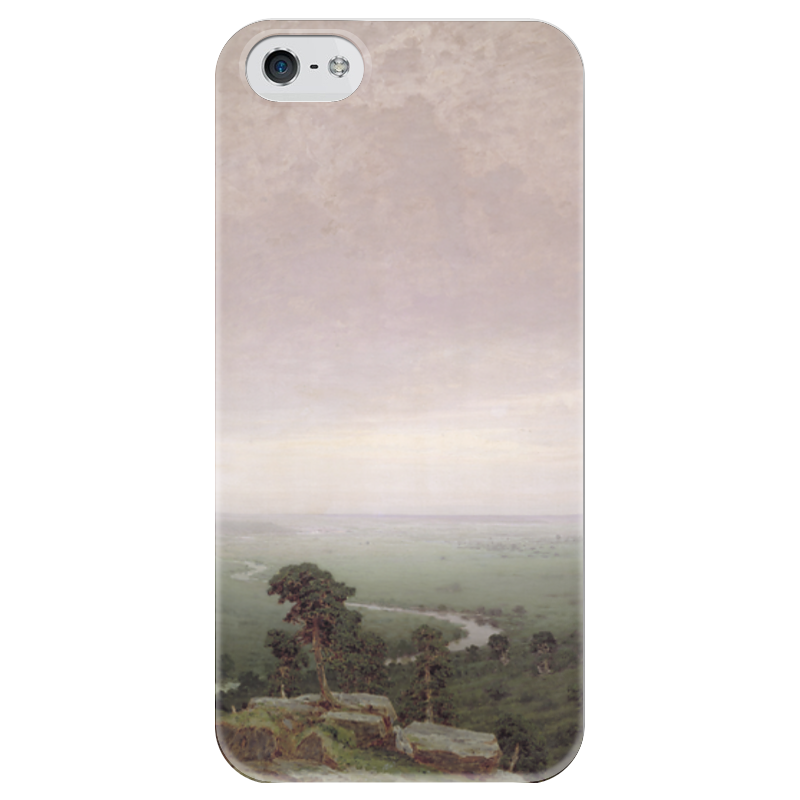 Чехол для iPhone 5 глянцевый, с полной запечаткой Printio Север (картина архипа куинджи) чехол для blackberry z10 printio север картина архипа куинджи