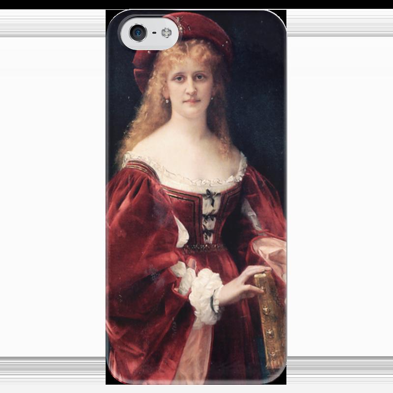 Чехол для iPhone 5 глянцевый, с полной запечаткой Printio Портрет аристократки из венеции прогулки по венеции
