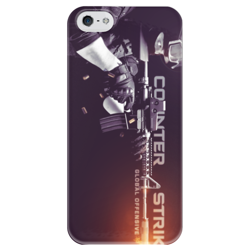 Чехол для iPhone 5 глянцевый, с полной запечаткой Printio Cs:go ct ip5 чехол для iphone 5 5s кораллово зеленый жук арт ip5 288 chocopony