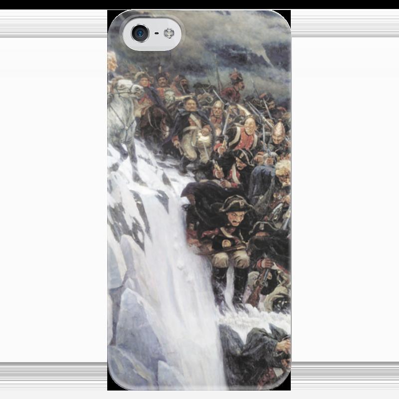 Чехол для iPhone 5 глянцевый, с полной запечаткой Printio Переход суворова через альпы (в. и. суриков) рюкзак с полной запечаткой printio переход суворова через альпы в и суриков
