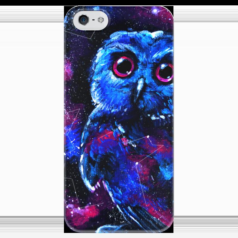 Чехол для iPhone 5 глянцевый, с полной запечаткой Printio Space owl чехол для iphone 4 глянцевый с полной запечаткой printio my space