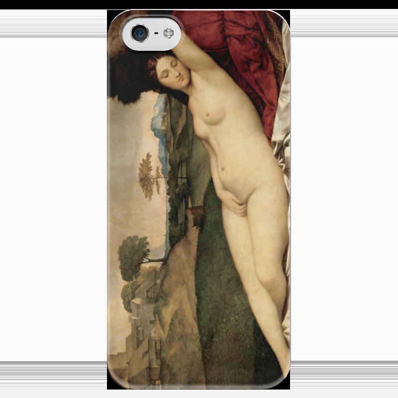 Чехол для iPhone 5 глянцевый, с полной запечаткой Printio Спящая венера (джорджоне) чехол для iphone 6 глянцевый printio спящая красавица сказка