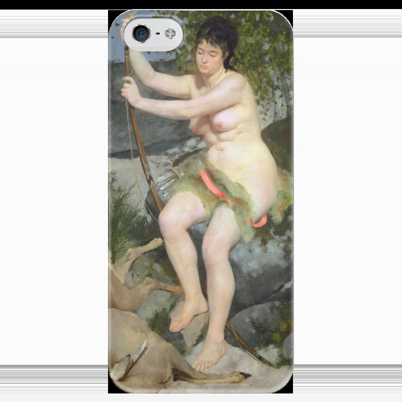 Чехол для iPhone 5 глянцевый, с полной запечаткой Printio Диана (пьер огюст ренуар) чехол для iphone 6 глянцевый printio бал в мулен де ла галетт ренуар