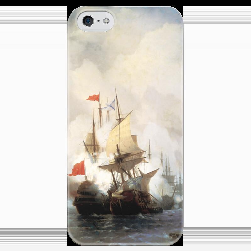 Чехол для iPhone 5 глянцевый, с полной запечаткой Printio Бой в хиосском проливе настенные часы русский меценат рм 775
