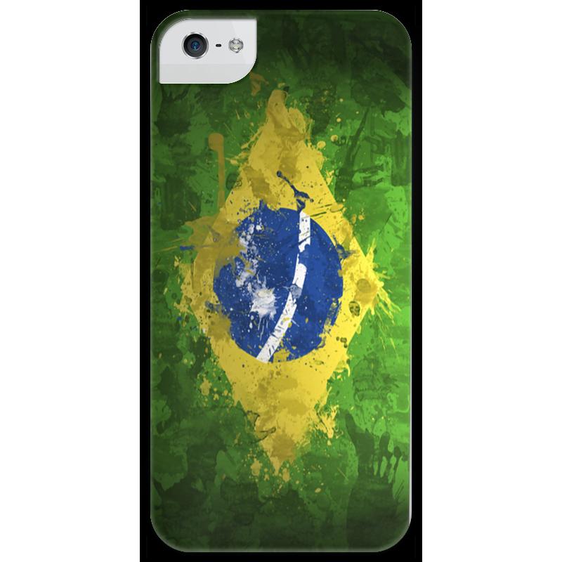 Чехол для iPhone 5 глянцевый, с полной запечаткой Printio Бразилия чехол для iphone 5 глянцевый с полной запечаткой printio флаг пророка жан леон жером