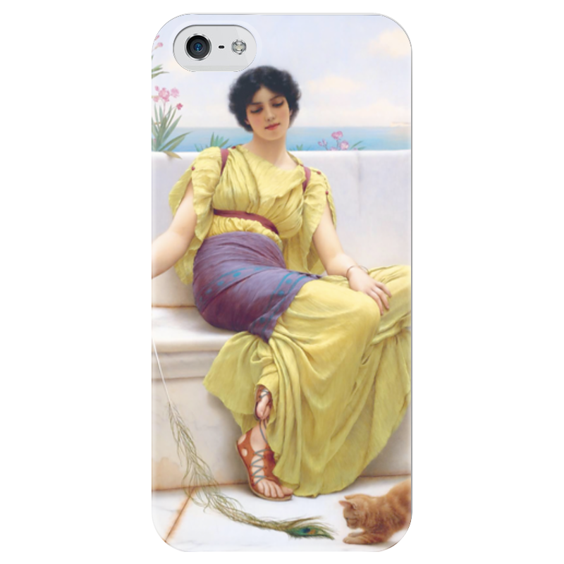 Чехол для iPhone 5 глянцевый, с полной запечаткой Printio Праздность (джон уильям годвард) чехол для iphone 5 глянцевый с полной запечаткой printio афинаида джон уильям годвард