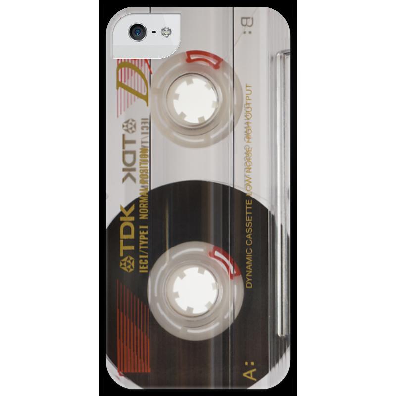 Чехол для iPhone 5 глянцевый, с полной запечаткой Printio Аудио-кассета ретро кассета для шрифтов 5 5 мм