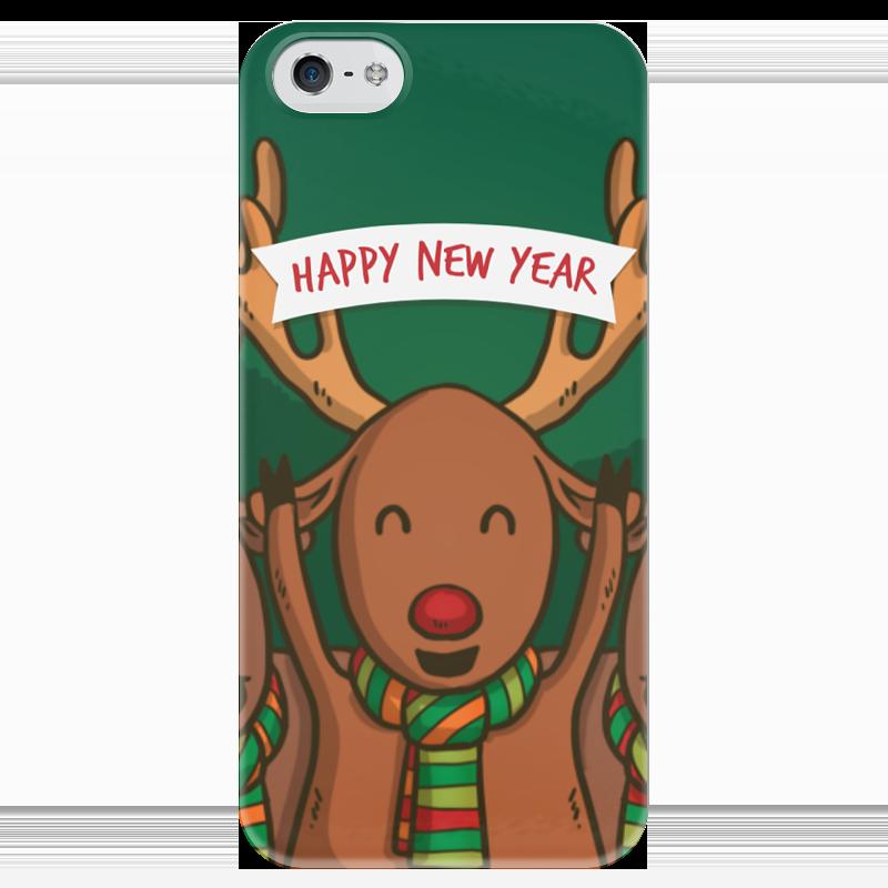 Чехол для iPhone 5 глянцевый, с полной запечаткой Printio С новым годом! чехол для iphone 4 глянцевый с полной запечаткой printio с новым годом