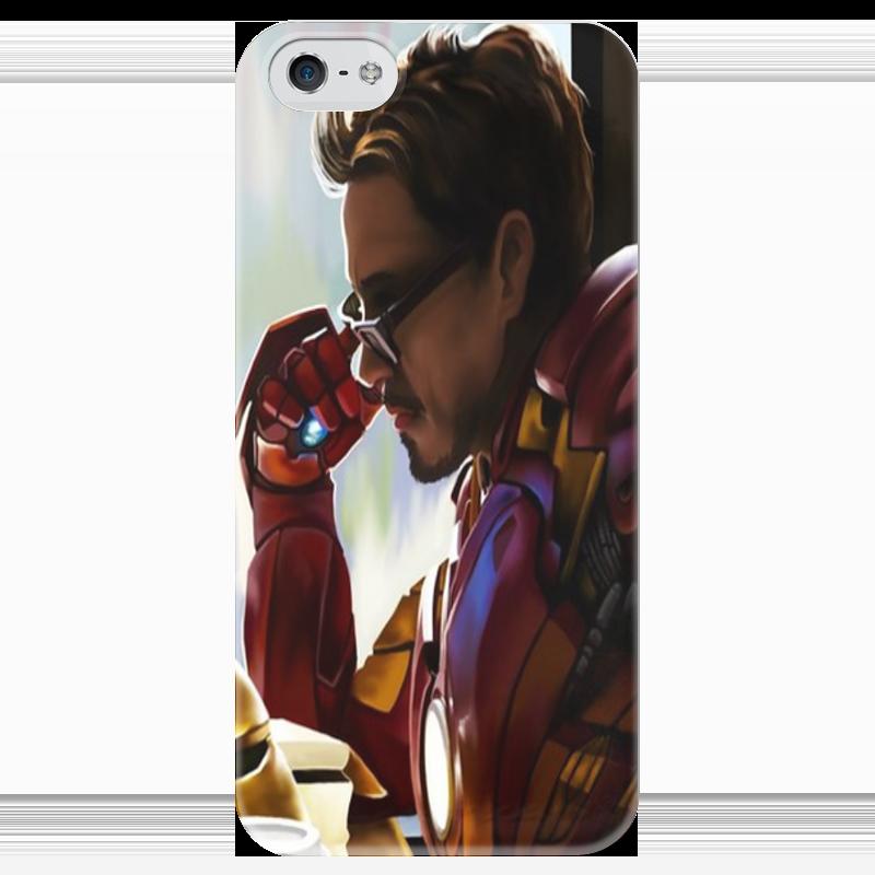 Чехол для iPhone 5 глянцевый, с полной запечаткой Printio Ironman.art чехол для iphone 4 глянцевый с полной запечаткой printio бэтмен
