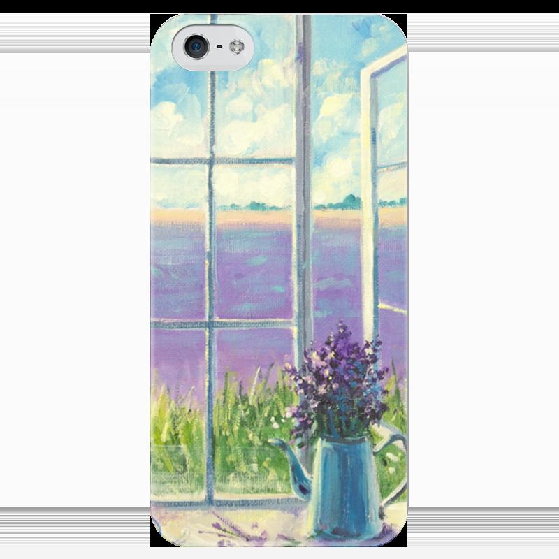 Чехол для iPhone 5 глянцевый, с полной запечаткой Printio Безмятежность лавандового утра одеяло лавандового цвета с принтом brums ут 00011835