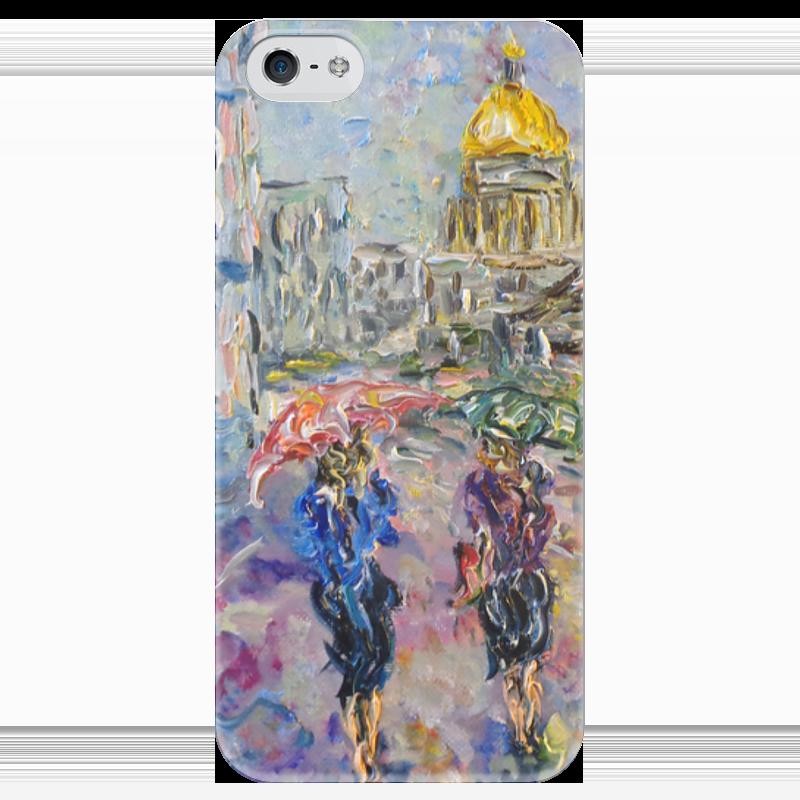 Чехол для iPhone 5 глянцевый, с полной запечаткой Printio Питерский дождь никита павлов картина новгород дождь