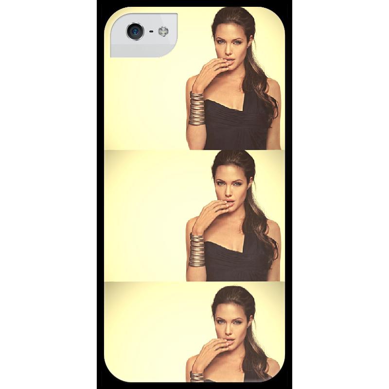 Чехол для iPhone 5 глянцевый, с полной запечаткой Printio Джоли чехол для iphone 5 глянцевый с полной запечаткой printio zayn malik