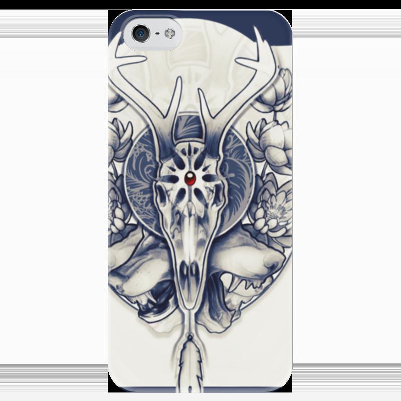 Чехол для iPhone 5 глянцевый, с полной запечаткой Printio Deer's skull чехол для iphone 7 глянцевый printio skull art
