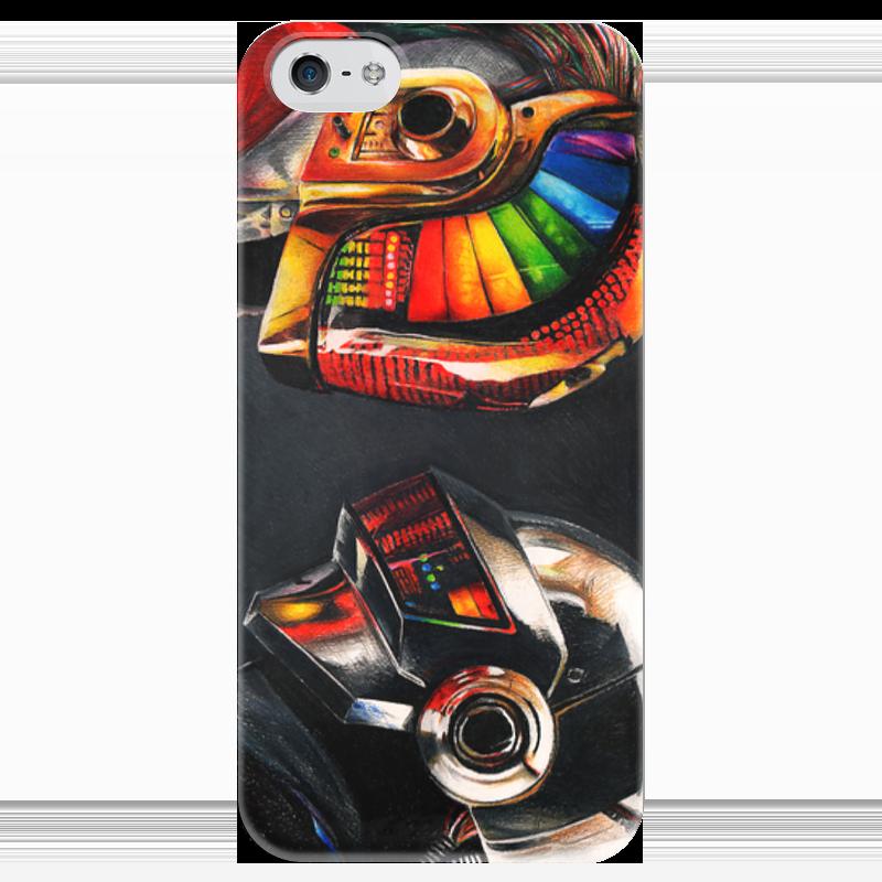 Чехол для iPhone 5 глянцевый, с полной запечаткой Printio Daft punk чехол для iphone 5 printio благодарный чехол
