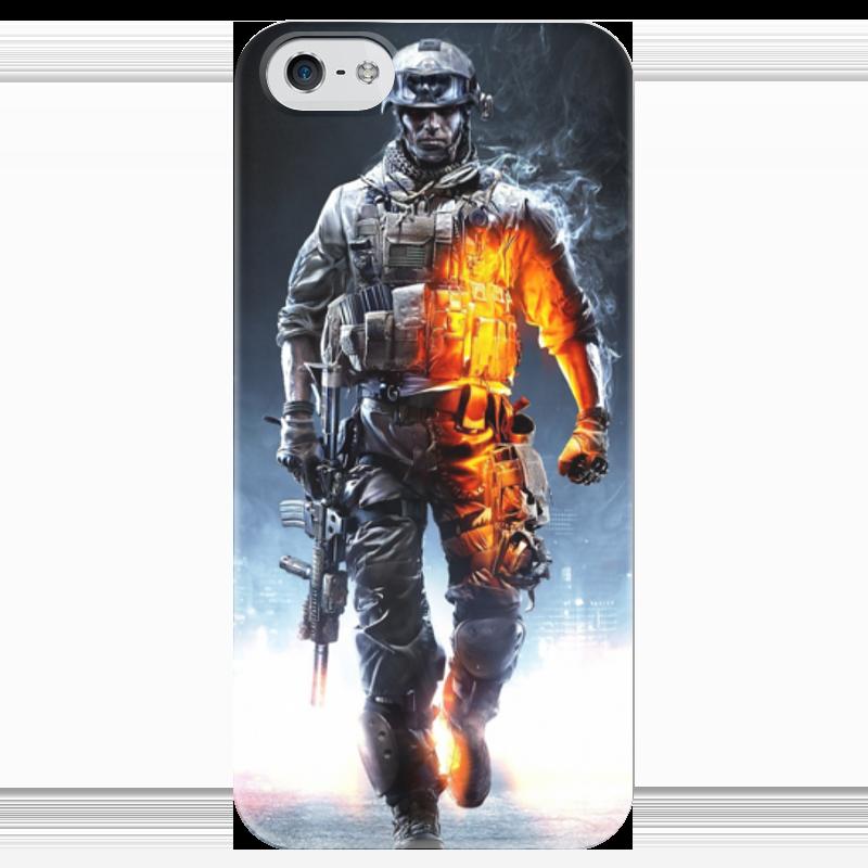 Чехол для iPhone 5 глянцевый, с полной запечаткой Printio Солдат (battlefield) форма для солдат срочников