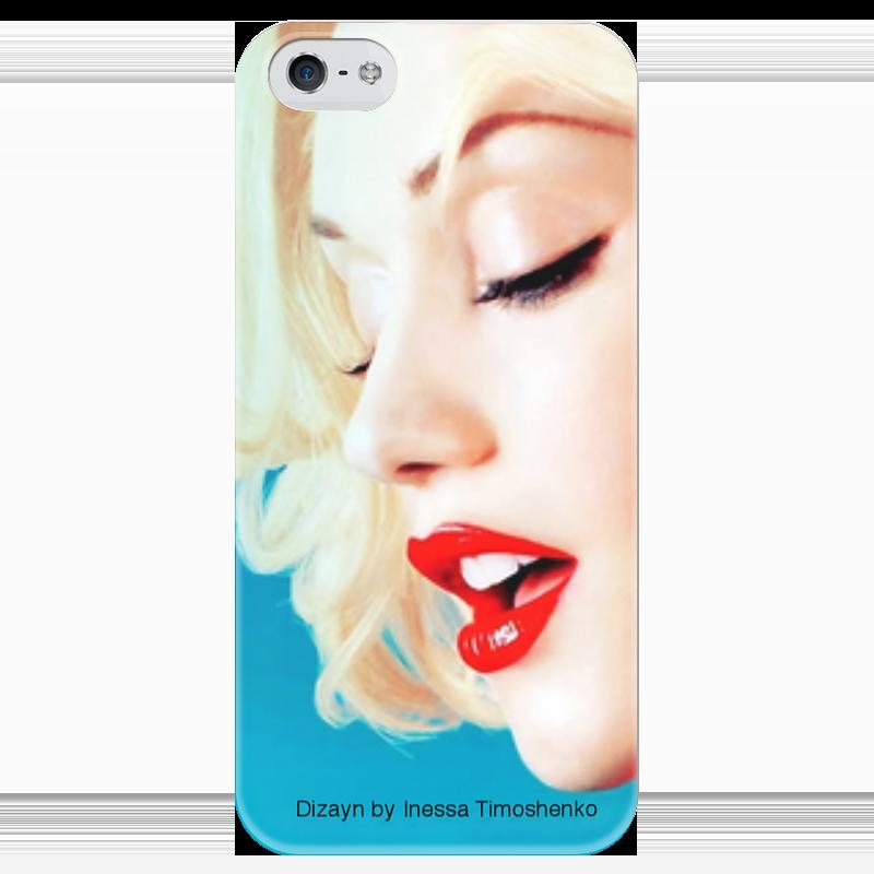 Чехол для iPhone 5 глянцевый, с полной запечаткой Printio Гвен стефани нейтральный цвет в интерьере стефани хоппен