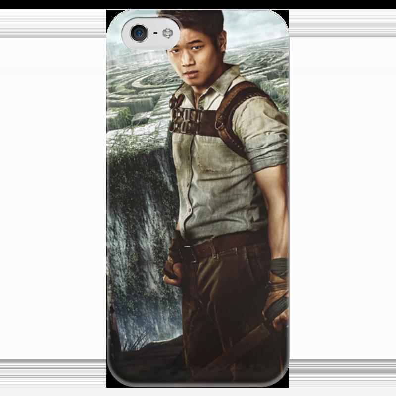 Чехол для iPhone 5 глянцевый, с полной запечаткой Printio Бегущий в лабиринте / the maze runner
