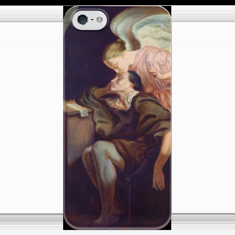 Чехол для iPhone 5 глянцевый, с полной запечаткой Printio Поцелуй музы музы вдохновившие мир прозрачный супер