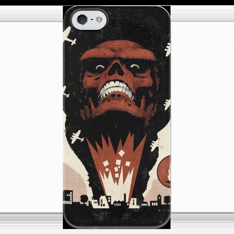 Чехол для iPhone 5 глянцевый, с полной запечаткой Printio Red skull / красный череп / marvel чехол для iphone 5 03 red
