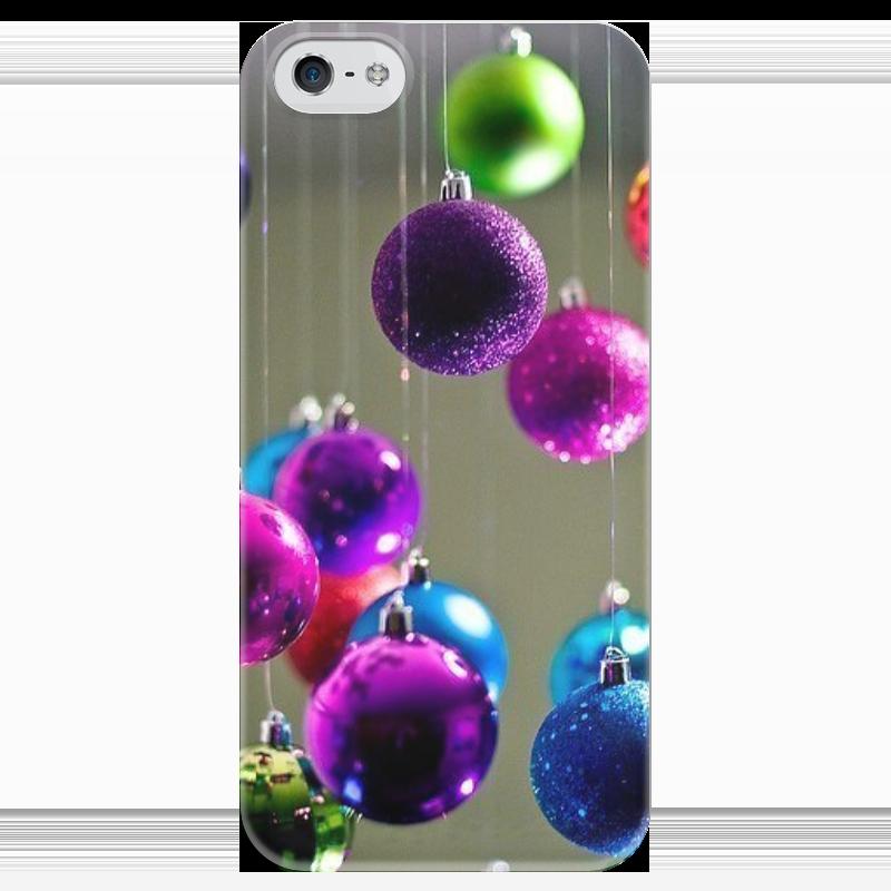 Чехол для iPhone 5 глянцевый, с полной запечаткой Printio Ёлочные украшения чехол для iphone 5 глянцевый с полной запечаткой printio новогодний case