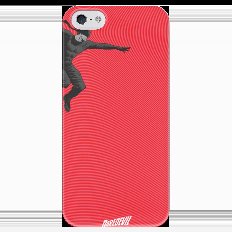 Чехол для iPhone 5 глянцевый, с полной запечаткой Printio Сорвиголова чехол для iphone 5 глянцевый с полной запечаткой printio bruce black white